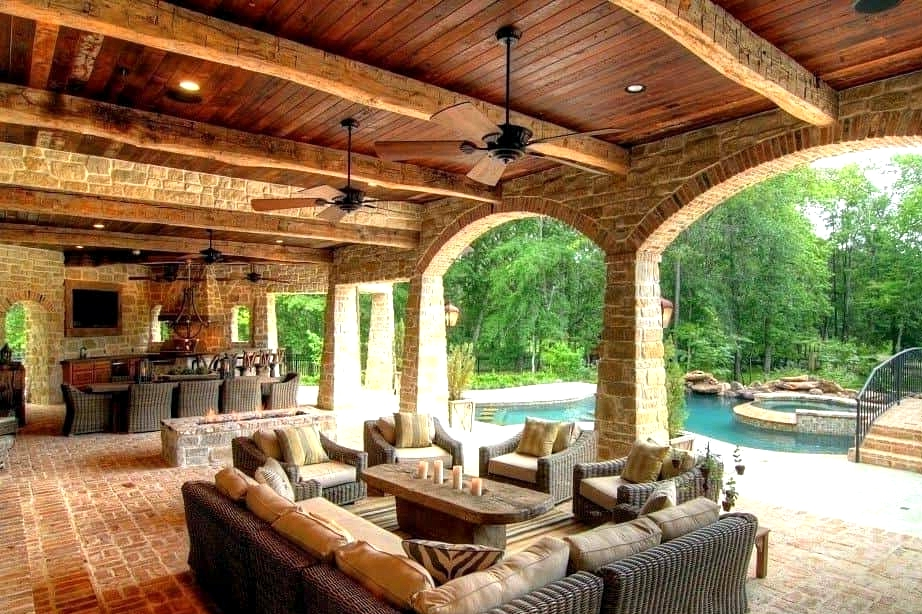 Promote a Tuscan Feel with Brick and Wood