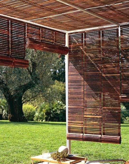 Hang Roll-up Bamboo Porch Shades