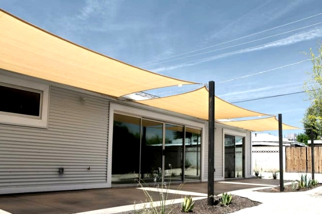 Install Shade Sails for a More Casual Look