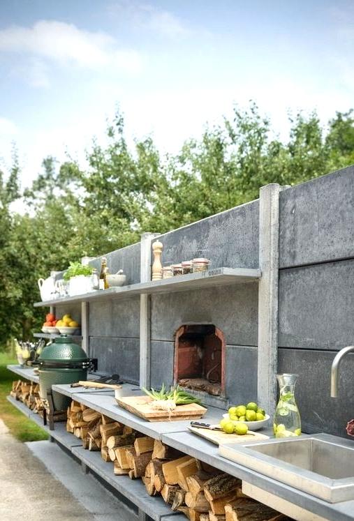 Concrete outdoor kitchen idea