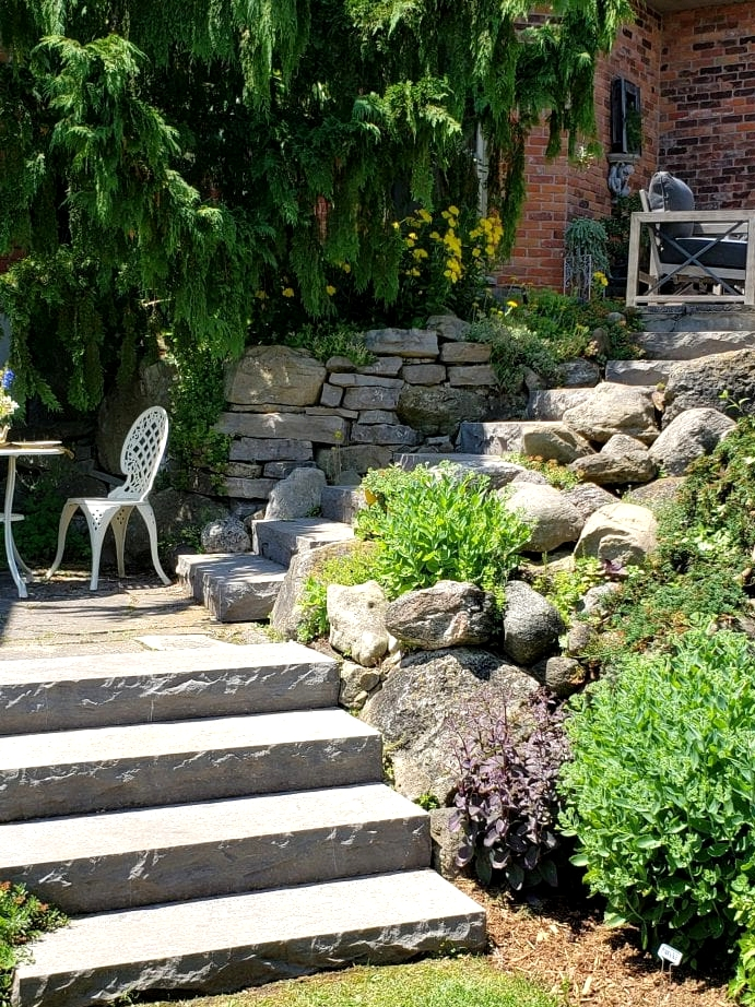 Flagstone Stairs That Lead To Your Matching Flagstone Patio