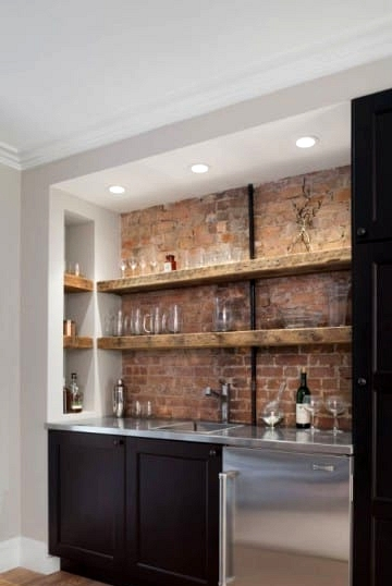 Channel a Speakeasy with Exposed Brick