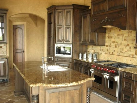 Focus on Detailed Woodwork Cabinets