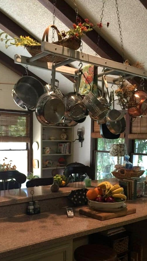 Keep Your Pots and Pans Exposed and Hanging