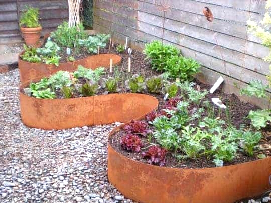 Install Steel Edging for Raised Beds