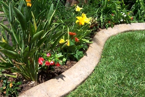 Install Curved Concrete Borders