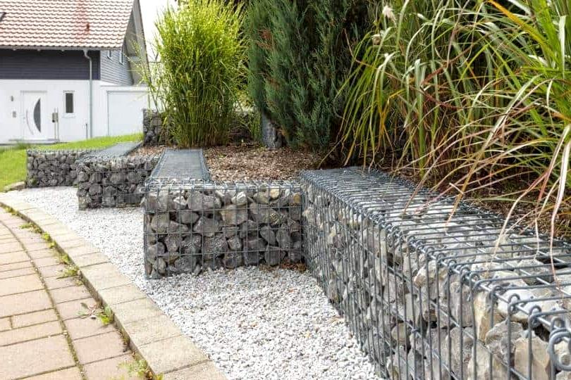 Install a Gabion Garden Border