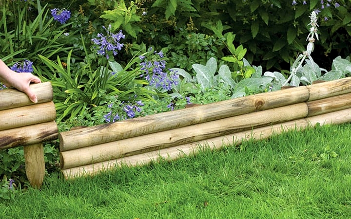 Stack Thin, Horizontal Logs for a Woodsy Look
