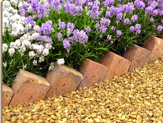 Install Sawtooth Brick Edging for Height Variation
