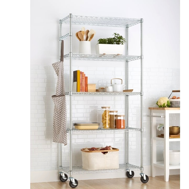 Use Rolling Shelves For Regularly Used Kitchen Tools