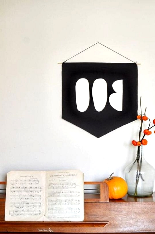 Chic fall home decor DIY BOO banner