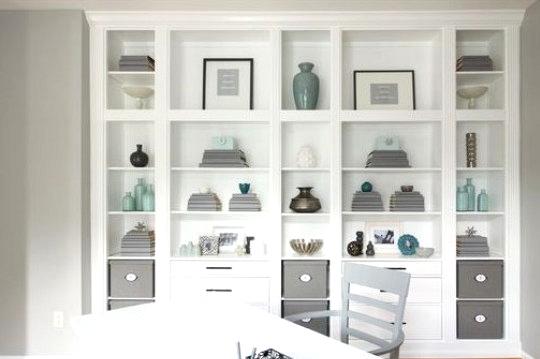 DIY IKEA storage hack Hermes Built-in bookcase