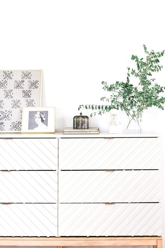 Modern Geometric IKEA dresser storage hack
