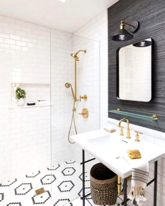 Customize your penny tile pattern with this statement flooring