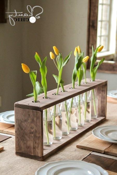 Farmhouse Glass Bottle Vase DIY