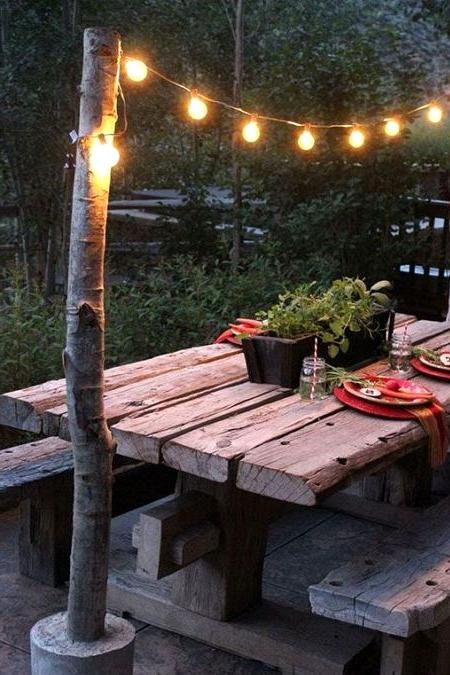 DIY Backyard lighting posts