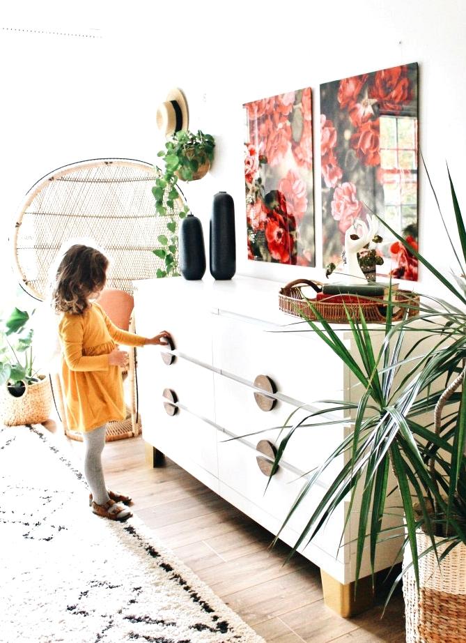 IKEA MALM dresser gets DIY handles and custom legs