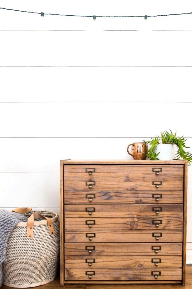 DIY Vintage painters cabinet IKEA hack