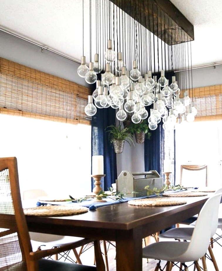 Make this multi bulb dining light fixture for $250. Wow, what a statement piece!