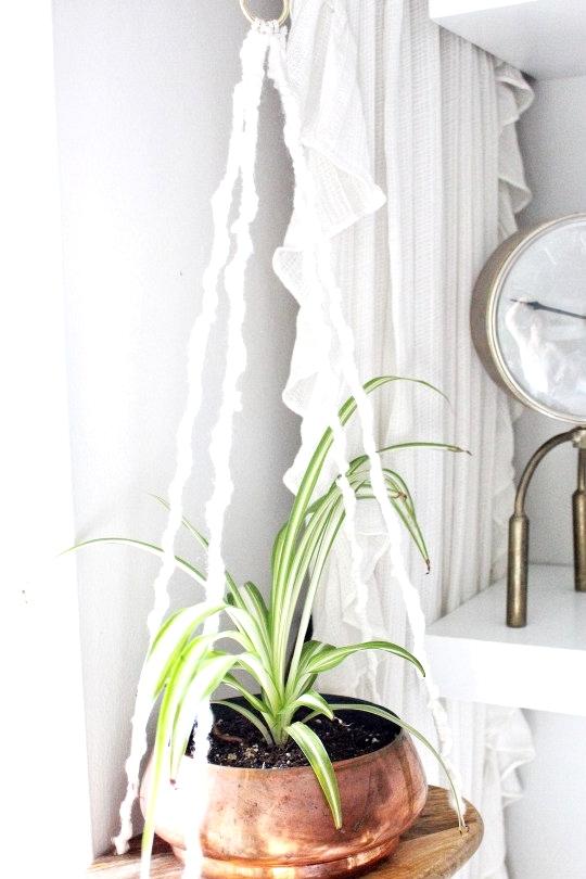 IKEA Hack : IKEA hacks for happy plants. IKEA cutting board turned hanging shelf.