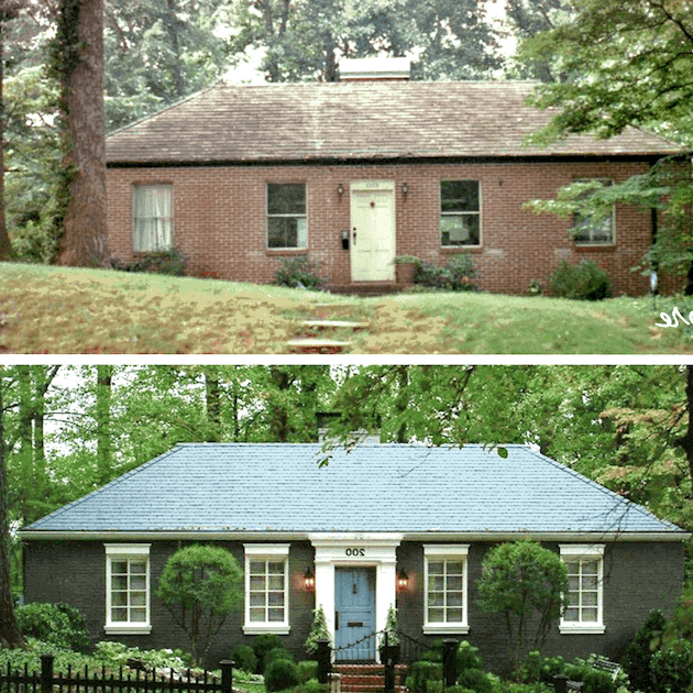 From plane Jane to massive curb appeal, a rancher before and after exterior remodel
