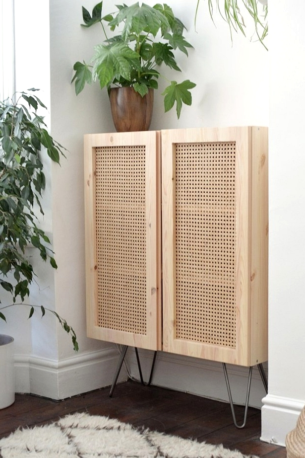 Bring natural material into your home with this IKEA hack using cane/rattan!