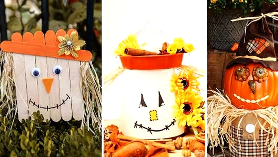 10 Adorably Cute DIY Scarecrow Ornament Concepts For Fall