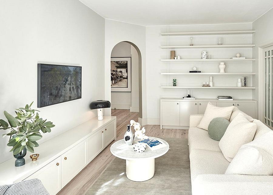 Elegant fashionable residence in milky tones in Sydney