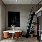 Small loft with mezzanine in incredibly beautiful house in Sweden (38 sqm)