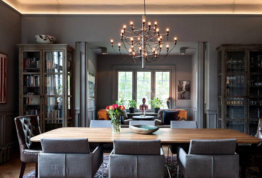 Moody darkish interiors of gorgeous home in Sweden