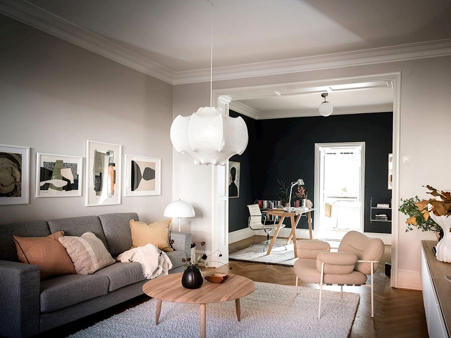Black and white house with heat particulars in Goteborg (72 sqm)