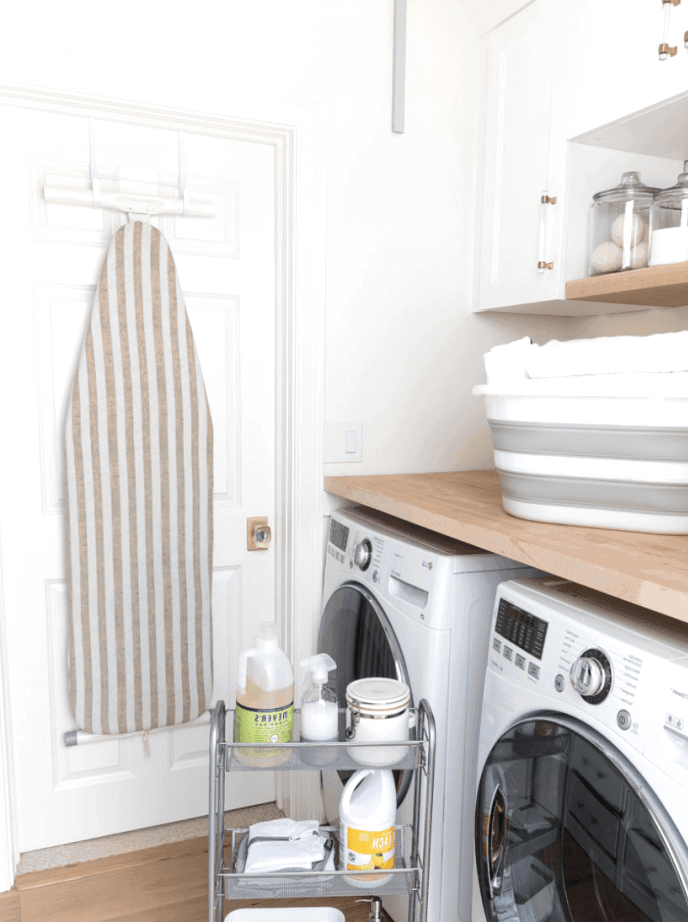 Laundry room organization tips for your home to help keep your space clean! You can finally look forward to laundry day!