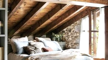Copy the Look of This Heat & Cozy Rustic Bed room
