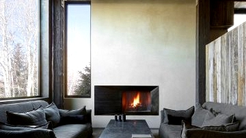 Fantastic thing about the pure and minimalism: trendy mountain house impressed by wabi-sabi