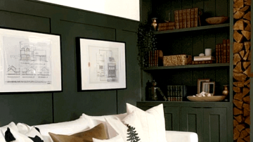 Moody Darkish Inexperienced Accent Wall Concepts