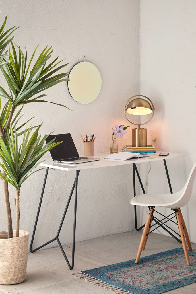 A new modern sleek desk is just the thing you need in your home office!