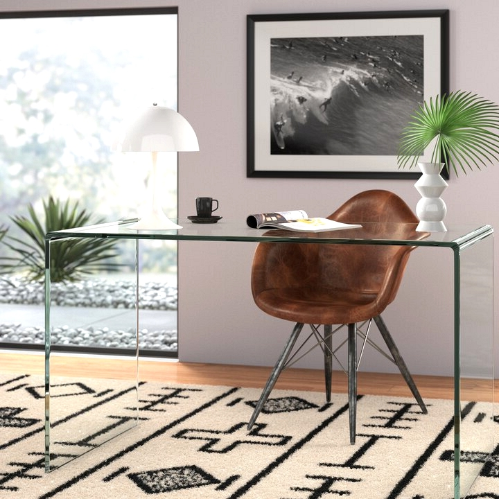Ultra modern glass waterfall home office desk to revamp your home office.