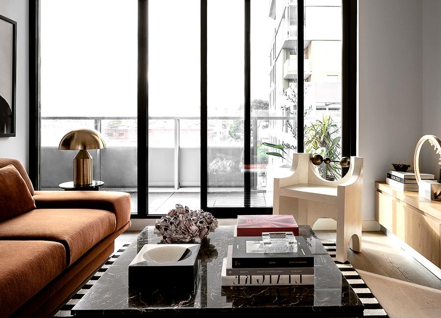 Fashionable Australian designer condo in Melbourne