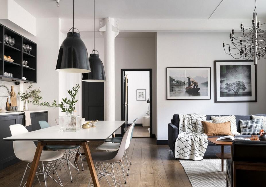 Cozy Scandinavian residence in former industrial constructing
