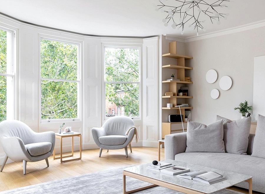 Calm pure condo in historic home in London