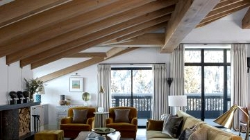 Alpine chalet by English designer