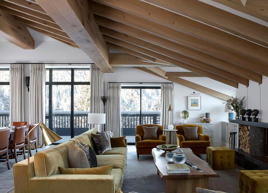 Alpine chalet by English designer