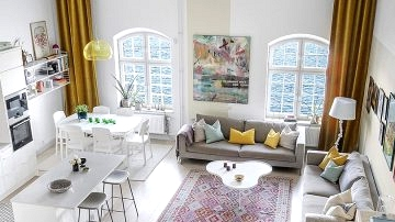 Spectacular condo with excessive ceilings and bay views in Stockholm