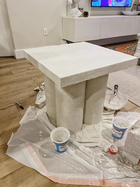 IKEA side table hack turns this Lack table into an iconic accent table.
