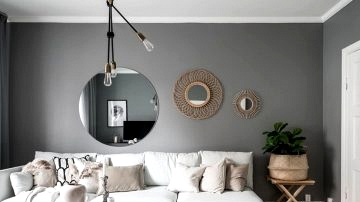 Darkish grey partitions and lightweight furnishings: small condo in Sweden (54 sqm)