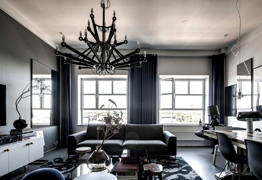 Trendy masculine condominium with industrial touches in Stockholm (86 sqm)