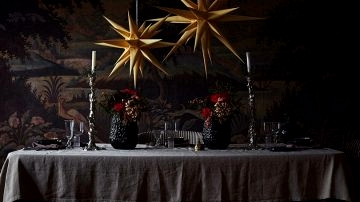 Moody Christmas interiors by Artilleriet