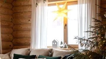 Festive log cabin of Russian designer Victoria Malysheva