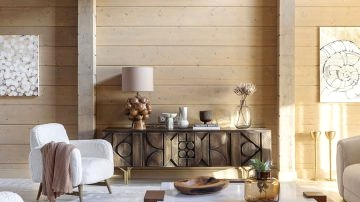 Beautiful wood home of designer Anastasia Kamensky in Moscow