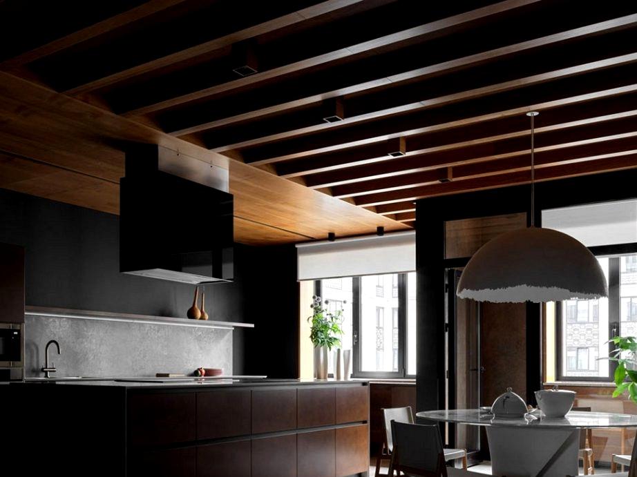 Another trendy Moscow condominium in darkish colours by Elena Gorenstein